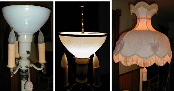 Shades of the past floor lamp restoration parts torchiere glass lamp shade adapter so you can use a shade of your choice on your floor lamp also sell the replacement glass diffusers aloadofball Choice Image